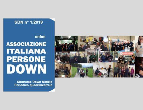 """Online il n. 1/2019 della rivista AIPD """"Sindrome Down Notizie"""""""