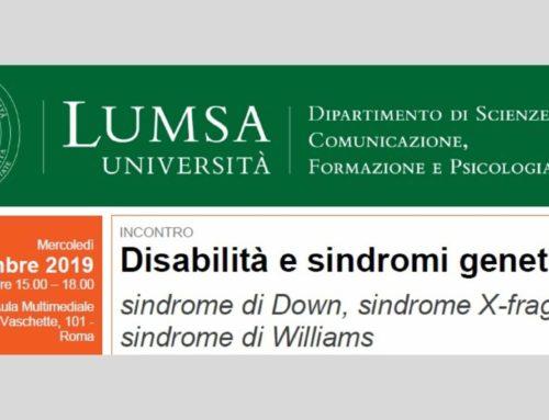 """""""Disabilità e sindromi genetiche"""", incontro a Roma mercoledì 27 novembre"""