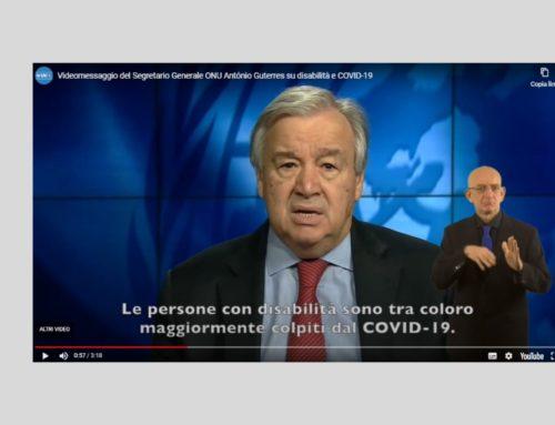 Linee guida ONU sulla gestione dell'emergenza Covid-19 per le persone con disabilità