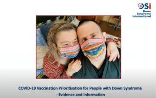 fotogramma webinar DSI su vaccini e persone con sindrome di Down