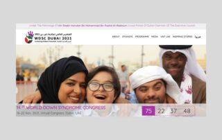 immagine sito web conferenza mondiale sindrome di Down 2021