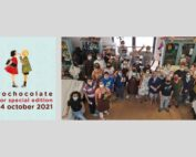logo eurochocolat e foto del gruppo di aipd perugia
